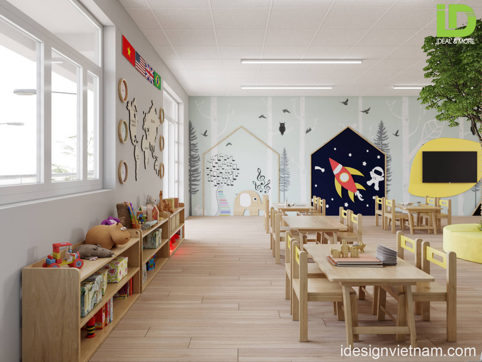 Thiết kế trường mầm non Sasuke Tam Trinh